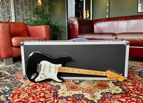 SOLD! - 1974 Fender Stratocaster Custom Color Black Tremolo Maple neck