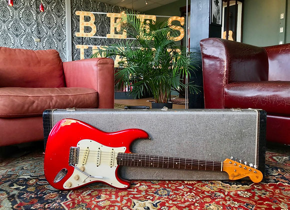 SOLD! - 1966 Fender Stratocaster Candy Apple Red refin
