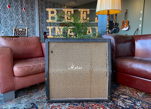SOLD! - 1971 Marshall 4x12 #1960 Angled Slant Large Checker Cabinet T1221