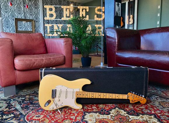 """SOLD! - 1974 Fender Stratocaster Custom Olympic White - """"Ducky"""""""