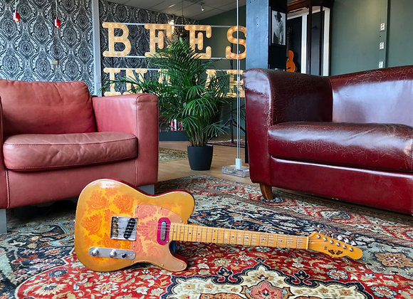 SOLD! - DY Relic/Aged Pink Paisley Telecaster handmade in the UK