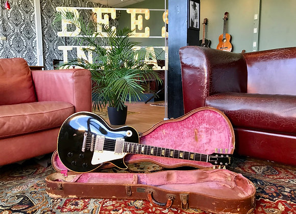 SOLD! - 1952 Gibson Les Paul Gold Top Converted to '59 Black w/ real PAF pickups