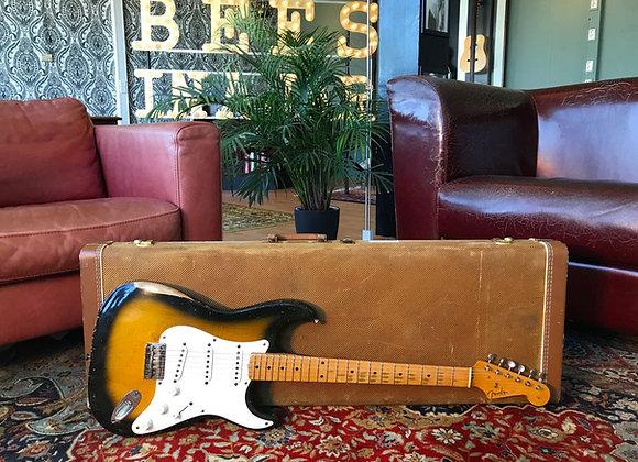 SOLD! - 1957 Fender Stratocaster 2-tone Tobacco Sunburst hardtail