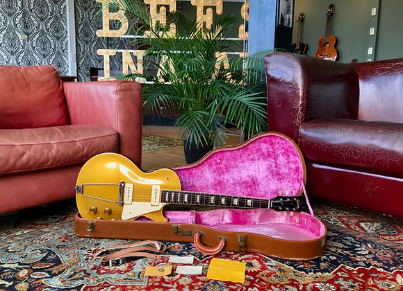 SOLD! - 1953 Gibson Les Paul Gold Top + case + strap + key + cards + cloth