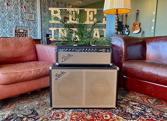 SOLD! - 1964 Fender Tremolux AB763 Blackface piggyback + 2x10 cab