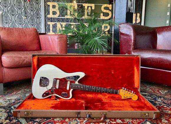 SOLD! - 1962 Fender Jaguar Olympic White refin w/OHSC
