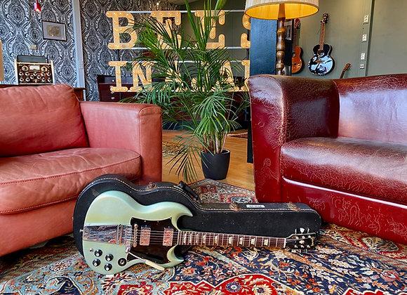 SOLD! - 1969 Gibson SG Standard refin Pelham Blue / Inverness Green