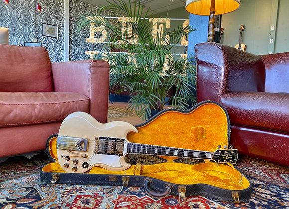 1962 Gibson Les Paul Custom SG Polaris White Sideways Vibrola