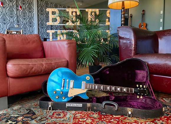 SOLD! - 1974-1975 Gibson Les Paul Deluxe Blue Sparkle