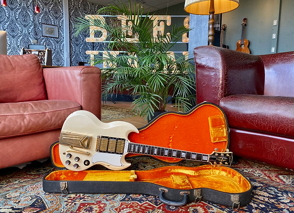 SOLD! - 1961 Peter Max Baranet Gibson SG/Les Paul Custom Polaris white Sideways