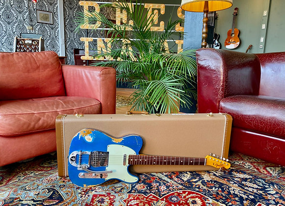 2013 Fender CS Telecaster '63 Lake Placid Blue Aged Heavy Relic w/ Bigsby