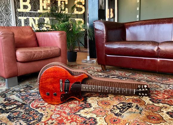 SOLD! 1959 Gibson Les Paul Junior Cherry DC Double Cut P90 w/ original croc case