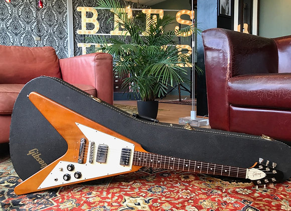SOLD! - 1978-1980 Gibson Flying V Natural Mahogany 2nd reissue 2.6Kgs
