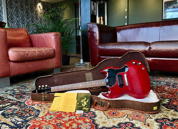 SOLD! - 1963 Gibson SG Junior Jr Cherry Red Small Guard + Alligator Case