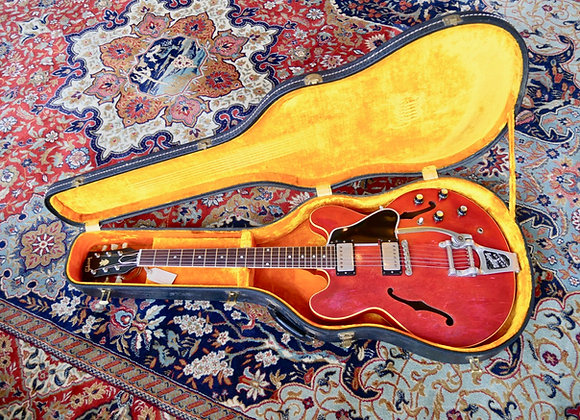 SOLD! - 1960 1961 Gibson ES335 TDC DOT NECK w/ PAF's Cherry Factory Bigsby