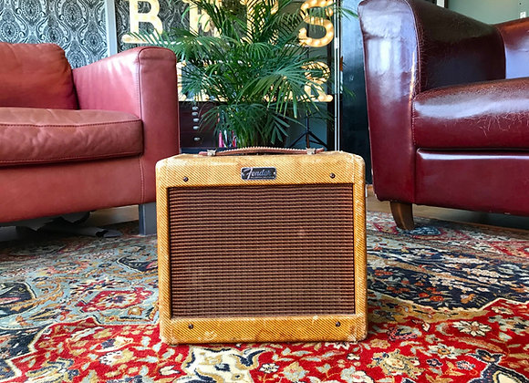 SOLD! - 1959-1960 Fender Champ 5F1 Narrow Panel Tweed Amp