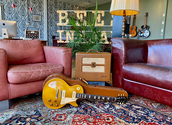 SOLD! - 1953-1956 Gibson Les Paul Goldtop conversion + 1953 Gibson BR-6 Amp