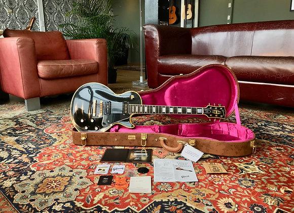 SOLD! - 2015 AGED Gibson Les Paul Custom '54 Reissue Black LPB4 Custom Shop 1954