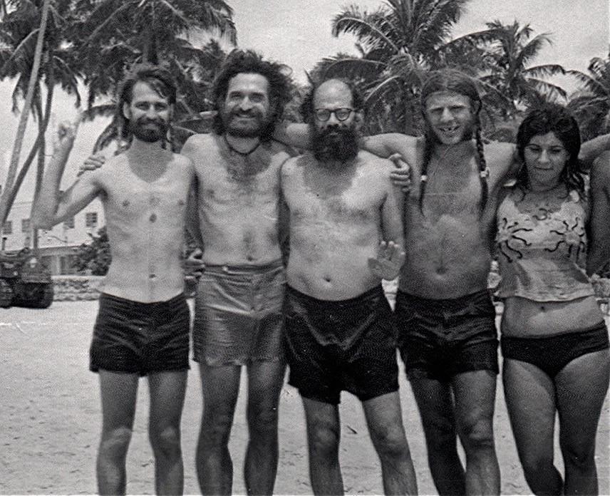 Jeff, John Giorno, Ginsberg, Peter Orlovsky & Diana