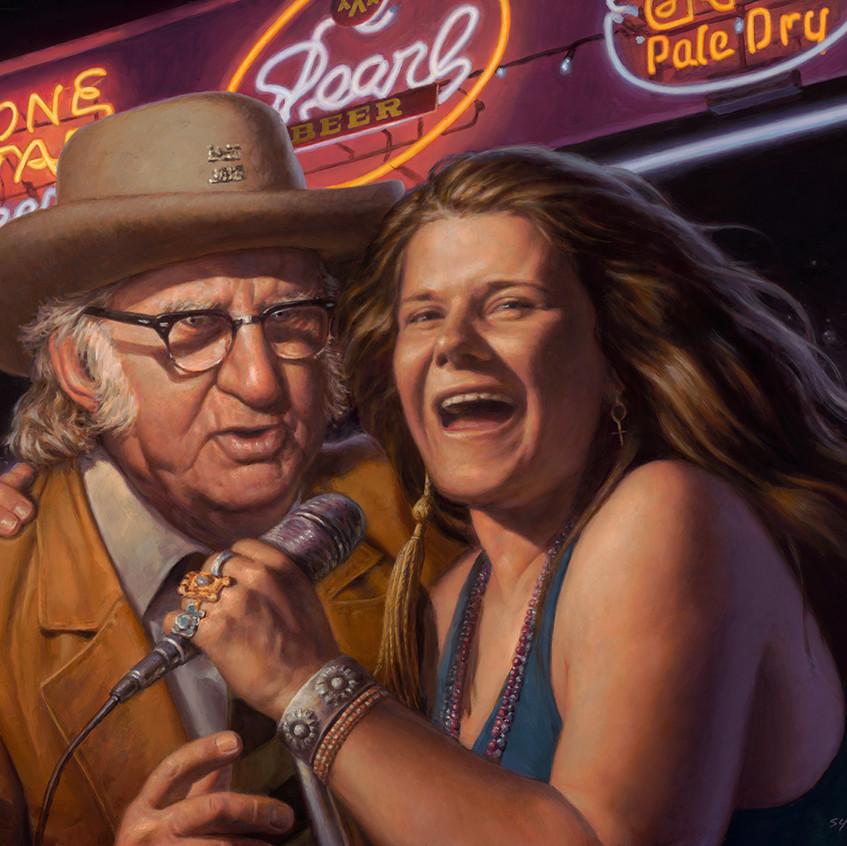 16. Janis Joplin and Kenneth Threadgill Commission for Threadgills, Austin Tx