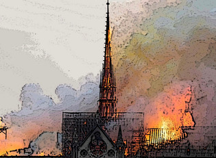 Browning / Notre Dame, France's Heart on Fire