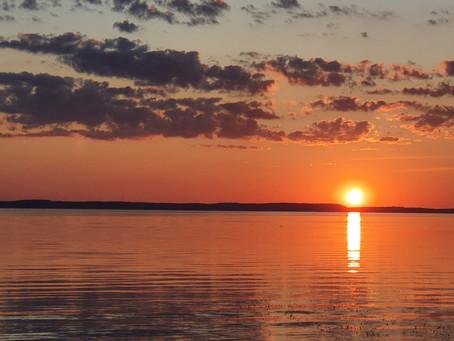 Gražiausi saulėlydžiai prie Kuršių marių