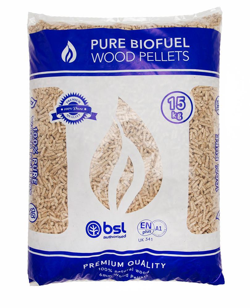 Bag of PBF 15kg Wood Pellets