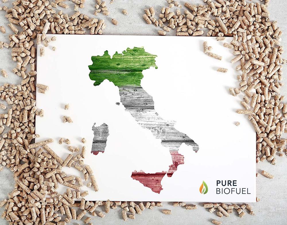 Pure Biofuel Pellet di legno Italia