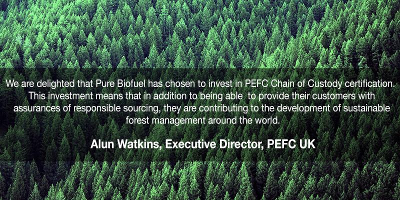 Alun Watkins PEFC Quote