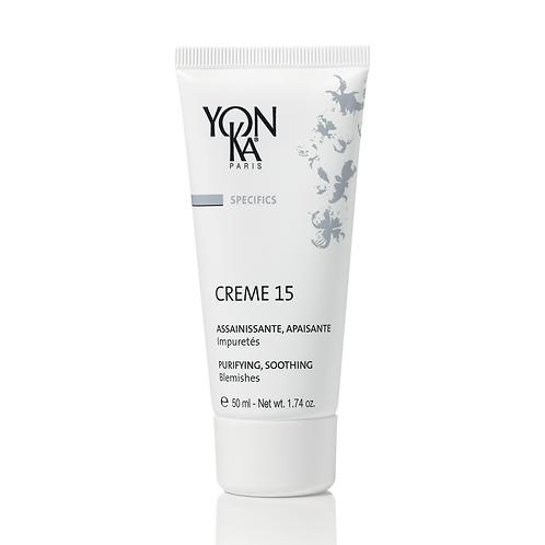 Crème 15, Assainissante et Apaisante, 50 ml - Yon-Ka