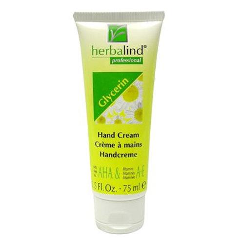 Crème pour les mains à base de Glycérine avec Camomille, 75ml - Herbalind