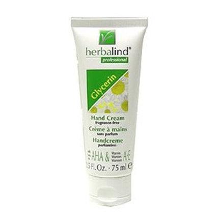 Crème pour les mains à base de Glycérine, sans parfum, 75ml - Herbalind