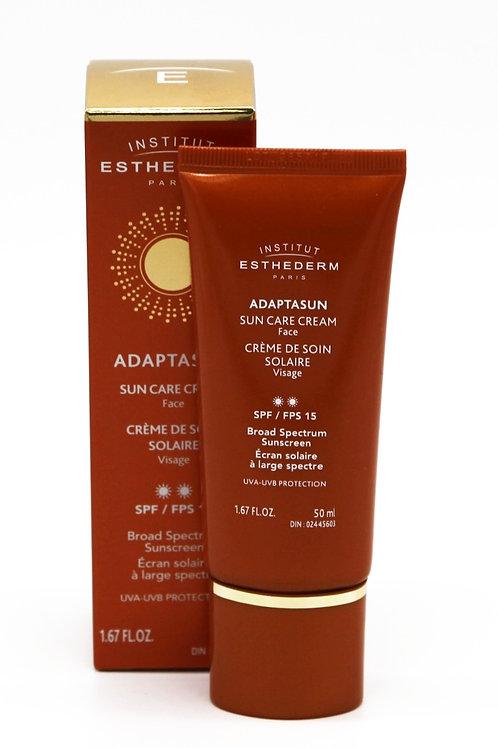Adaptasun crème de soin solaire visage 2 soleils FPS 15, 50 ml - Esthederm