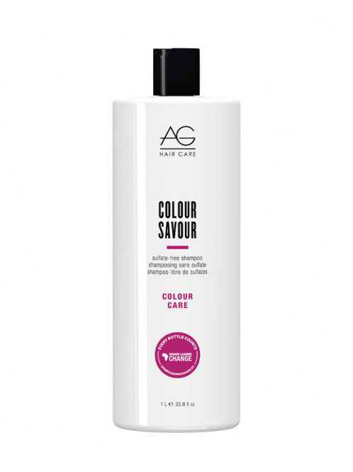 COLOUR Savour Shampooing sans sulfate, 1 L - AG Hair Care