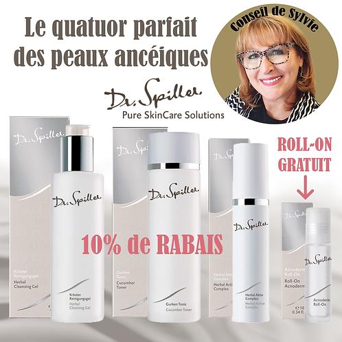 Le Quatuor de Sylvie des Peaux Acnéiques (4 produits) - Dr. Spiller