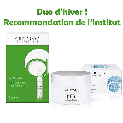 Duo d'Hiver de Sylvie - Crème Acide Hyaluronique + Ampoule Aloe Vera - Arcaya