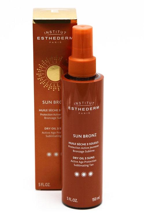 Sun Bronz huile sèche 3 soleils, 150 ml - Esthederm