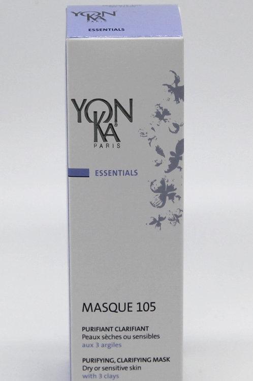 Masque 105 purifiant clarifiant peaux sèches ou sensibles, 25 ml - Yon-Ka