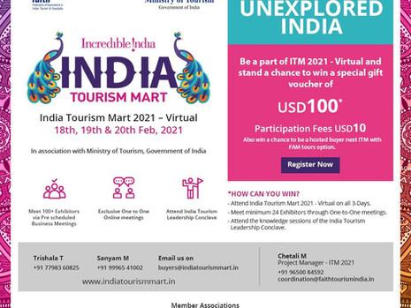 India Tourism Mart: 18-20 Feb 2021