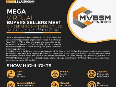 Mega Virtual Buyers Sellers Meet (MVBSM) on Ceramics and Vitrified Tiles.
