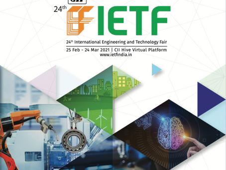 IETF 2021 : 25 February - 24 March 2021 : CII HIVE Virtual Platform