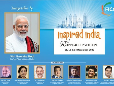 "FICCI's Annual Convention & 93rd AGM ""Inspired India"": 11-12 & 14th December 2020"