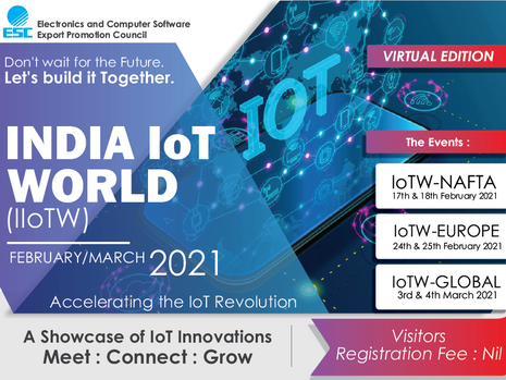 India IOT World (Virtual Exhibition): 3-4 March 2021