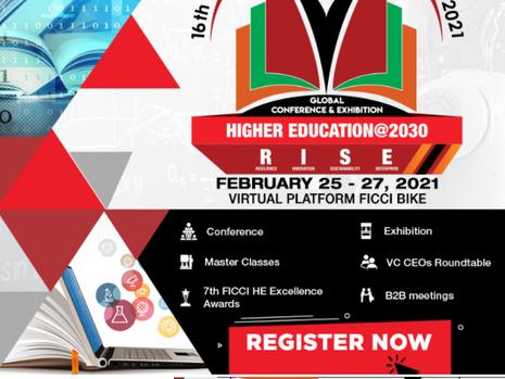 16th FICCI Higher Education Summit, 25-27 Feb, 2021