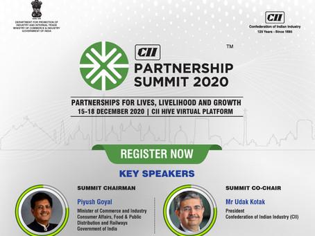 CII Partnership Summit: 15 - 18 December 2020