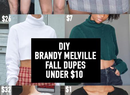 EASY DIY BRANDY MELVILLE FALL DUPES, UNDER $10