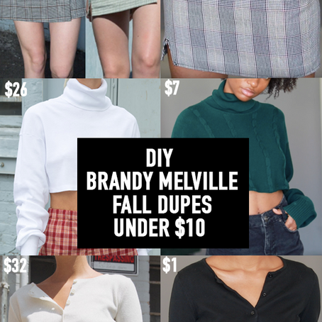 EASY DIY BRANDY MELVILLE FALL DUPES, UNDER $10