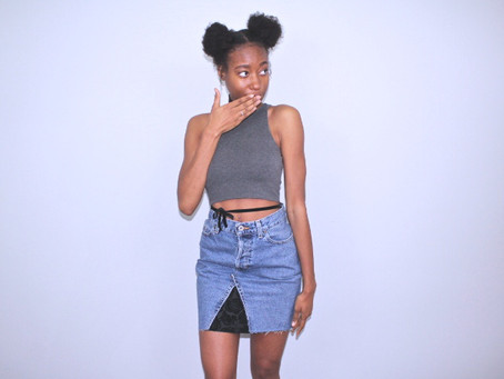 How to Turn Jeans into a Denim Skirt