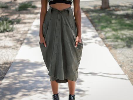 DIY Skirt From A Button Down Shirt