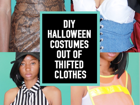 DIY HALLOWEEN COSTUMES OUT OF THRIFTed CLOTHES